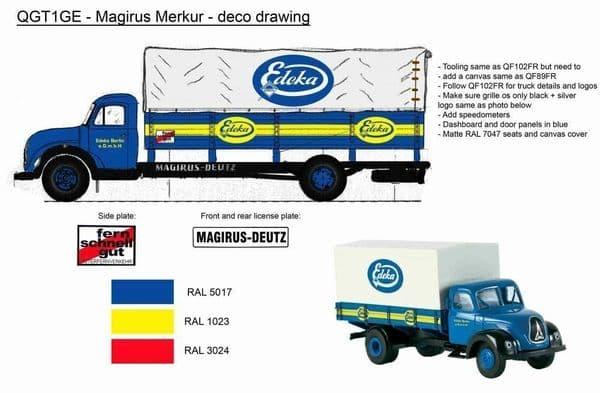 Atlas BL57 1/43 Margirus-Deutz  Edeka Berlin Covered pickup